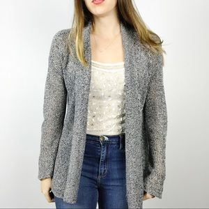 Eileen Fisher • Blue Linen Knit Cardigan Sweater